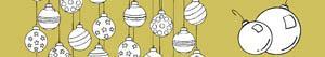раскраски Новогодние шары - Ёлочные шары