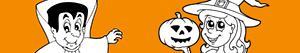 раскраски Хэллоуин Вечеринка