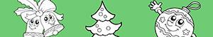 раскраски Украсьте елку